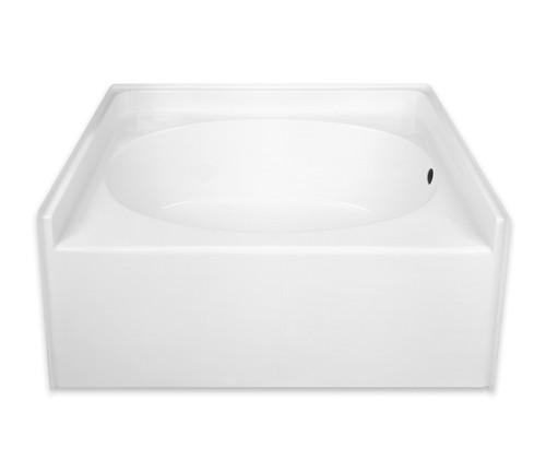 Aquarius Oval Soaking Alcove Bathtub 60″ X 42″ X 28″ G 4260 TO LR