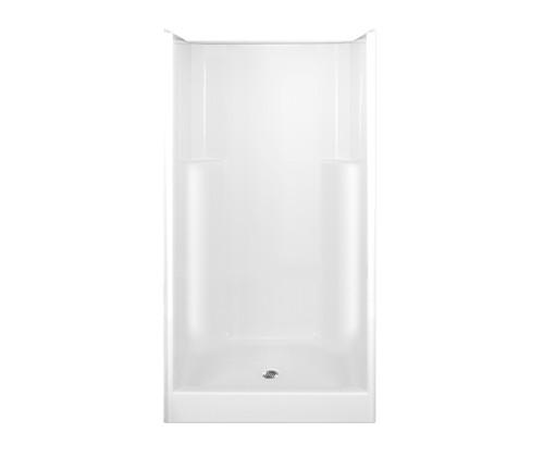 Aquarius AcrylX™ Smooth Wall Alcove Shower 42W x 34.75D x 73H Center Drain G 4294 SH