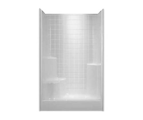 Aquarius AcrylX™ Tile look Alcove Shower 48″W X 35 7/8″D X 77 3/4″H Center Drain G 4800 SH 1S Tile