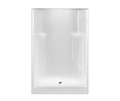 Aquarius AcrylX ™ Smooth Wall Alcove Shower 48W x 35.5D x 74H Center Drain G4836SHNS