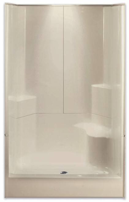 "AQUARIUS ACRYLX ™   SHOWER 3 PIECE SECTIONAL   RH SEAT   48""W X 35.5""D X 77.5""H   CENTER DRAIN   G4887SH3P1SR , remodel shower, multi-piece shower, 3-piece shower, low threshold, 3-piece, three-piece shower, Cheap sectional shower, Discount standard sectional, low price shower, best price shower, small tub shower, small shower, small bathroom, small bathroom shower"
