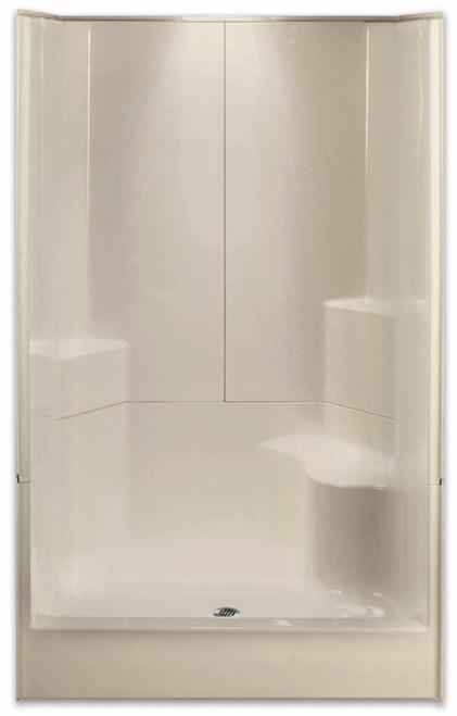 "AQUARIUS ACRYLX ™ | SHOWER 3 PIECE SECTIONAL | RH SEAT | 48""W X 35.5""D X 77.5""H | CENTER DRAIN | G4887SH3P1SR , remodel shower, multi-piece shower, 3-piece shower, low threshold, 3-piece, three-piece shower, Cheap sectional shower, Discount standard sectional, low price shower, best price shower, small tub shower, small shower, small bathroom, small bathroom shower"
