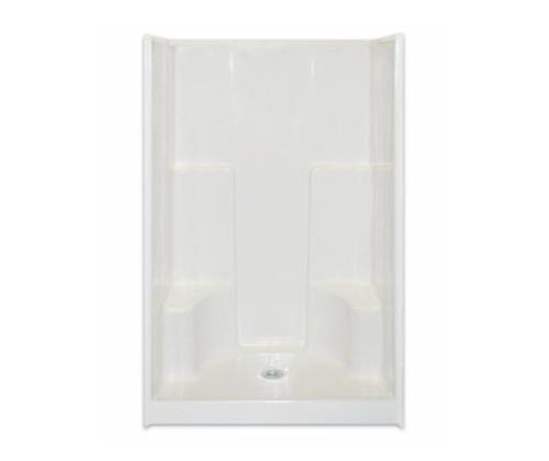 "Aquarius AcrylX™ Smooth Wall Shower 48""W x 35.5""D x 75""H 2 Seats Center Drain G 4895 SH 2S C"