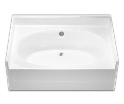 Aquarius  AcrylX ™ Alcove Oval Soaking Bathtub 60″ X 42″ X 24″ Center Drain G 6040 TO