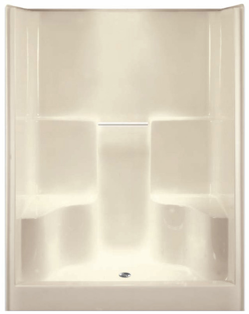 Aquarius AcrylX ™ 60W x 36D x 78.5H Shower with soap dishes and two molded seats. Drain Location: center G6077SH2S
