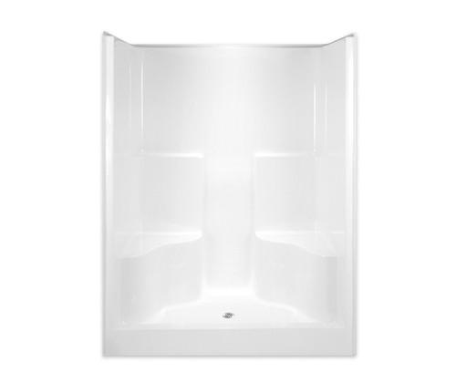 Aquarius  AcrylX ™ One Piece Alcove Shower 2 Seats 60″ X 36″ X 78 1/2″ Center Drain G 6077 SH 2S
