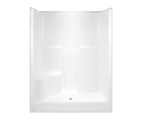 Aquarius AcrylX™ Alcove Shower 60W x 36.5D x 78.25H One Seat Center Drain G 6077 SH 1S