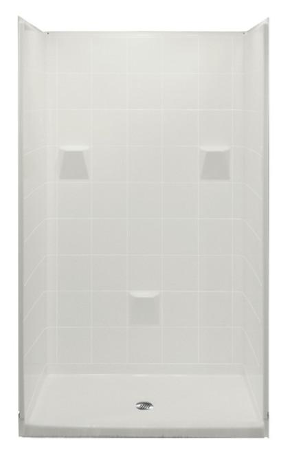 Aquarius AcrylX™ 4 Piece Alcove Shower Tile Pattern 37″D X 48″W X 78″ H Center Drain MP 4836 SH 4P 3.0