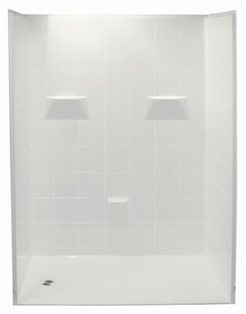 Aquarius AcrylX™ 5 Piece 50 1/8″ X 50 1/4″ X 77 3/4″ Center Drain | P 5050 BF 5P 1.0 C