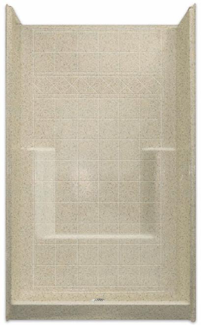 """Aquarius AcrylX™ Shower   48W x 37D x 80H   6"""" Tile pattern   Soap Dish   Foot Ledge   Center Drain   M4836SHNSTile"""