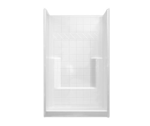 Aquarius AcrylX™ Alcove Shower Foot and Soap Ledges 42″ X 36″ X 80″ Center Drain M 4236 SH