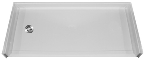 "Aquarius AcrylX™ Barrier free Shower Pan 60""W x 31""D x 4.50""H Left or Right Drain 