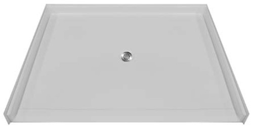 "Aquarius AcrylX™ Barrier Free Shower pan 60""W x 49""D x 4.5""H Center Drain 