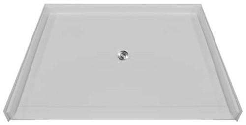 "Aquarius AcrylX™ Barrier Free Shower pan 60""W x 49""D x 4.5""H Center Drain MPB 6048 BF 1.125"