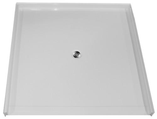 "Aquarius AcrylX™ | Barrier Free | Shower Pan | Accessible Shower Base | 60""W x 61""D x 4.5""H | Center Drain | MPB 6060 BF 1.25,  shower base, shower pan, barrier free shower base, barrier free shower pan, remodel shower pan, cheap shower base, discount shower base, low price shower base, best price shower base, tile shower base, accessible shower base, aging in place shower base, no threshold shower base, low threshold,  cheap shower pan, low price shower pan, discount shower pan, best price shower pan, accessible shower pan"