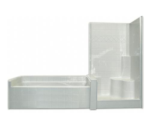 Aquarius Acrylx™ Applied Acrylic One-Piece Tub Shower 102 1/2″ X 42 1/2″ X 79″ M Infiniti V Tile 1S