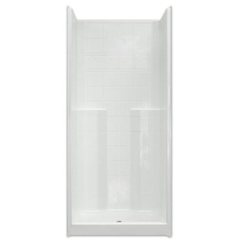 Aquarius AcrylX™ | Shower | 36W x 36D x 80H | Tile Pattern | Molded Soap Ledges | CHM 3678 SH
