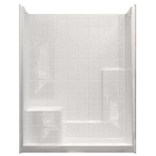 Aquarius AcrylX™ 3 Piece Alcove Shower 60″ X 33″ X 77″ CHM 6032 SH 1S 3P