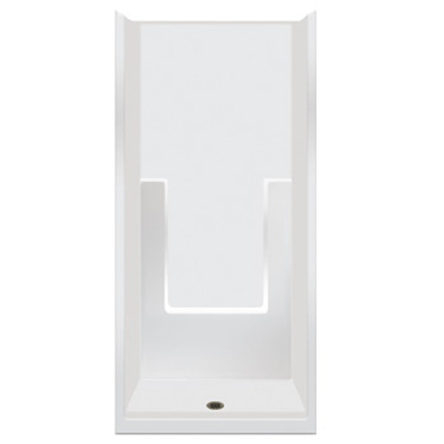 "Aquarius ACRYLX™ 1-Piece Smooth Wall Shower 35.75W x 37.25D x 77.5H | 4"" Threshold | Soap Ledges | CHG 3636 SH"