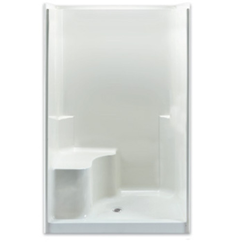 Aquarius AcrylX™ 48W x 37D x 78H Smooth Wall shower with seat | CHG 4837 SH