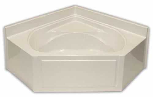 Aquarius AcrylX ™ Neo-Angle Corner Soaking Tub with armrests & wainscot trim | 60W x 60W x 27.25H | Center Drain | G6060 AP, soaker tub, soaking tub,  neo angle tub, soaker bathtub, soaking bathtub, corner bathtub, corner tub, cheap tub, cheap bathtub, low price tub, low price bathtub, discount bathtub, discount tub,  neo angle bathtub, corner soaker tub, corner soaker bathtub,