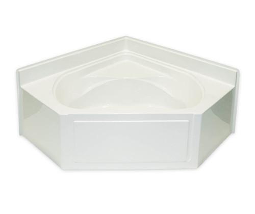 Aquarius AcrylX ™ Corner Bathtub with Amrests 60″ X 60″ X 27 1/4″ Center Drain G 6060 AP