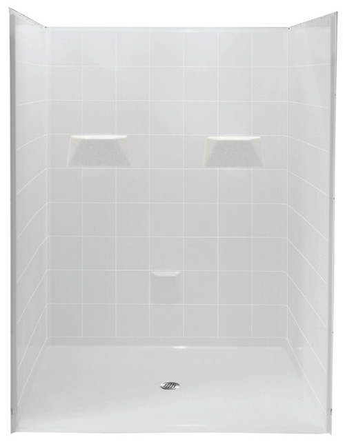 "Barrier Free Shower by Aquarius  | 60"" x 61""  Gelcoat 