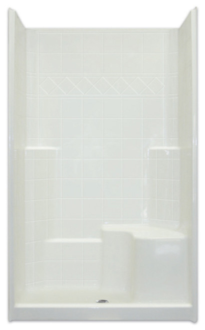 "Aquarius Three-Piece  Reinforced Shower | 4"" EasyStep™  Threshold 