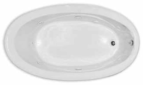 Aquarius Contractor Advantage Series 71.5 x 40.5 Oval Drop In Acrylic Soaker Tub - RN 7040