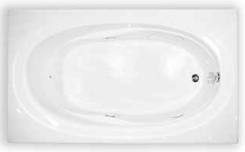 Aquarius Drop-In Soaker Bathtub 72 x 42 Acrylic RN TAHI 6 TO