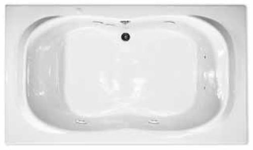 Aquarius Drop-In Soaker Bathtub 72W x 42D x 21.5H Center Drain RN RIO 7242 TO