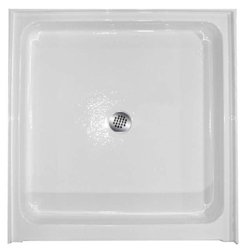 "Aquarius 36 x 36 Acrylic Shower Base With 6"" Easy-Step Threshold Center Drain AB 3636"