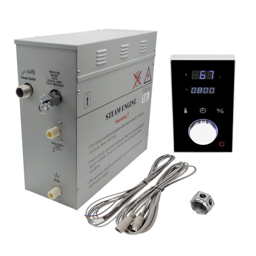Homeward Bath Superior DeLuxe 6 kW Steam Generator Kit with Keypad SP6HB  nationwidebath.com