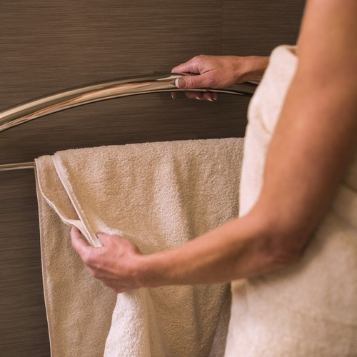 "Invisia | Towel Bar 16"" Polished Chrome with Integrated support rail with a 500lb. capacity INV-TB16-CP"