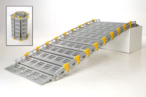 Roll-A-Ramp 4' x 26'' Portable Aluminum Ramp A12603A19