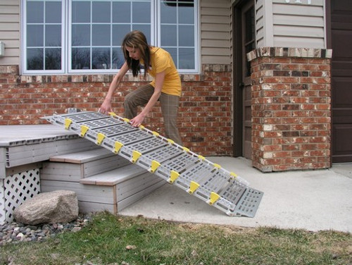 Roll-A-Ramp® 7' x 26''  Portable Aluminum Ramp A12606A19