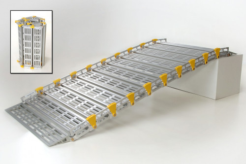 Roll-A-Ramp 4' x 30'' Portable Aluminum Ramp A13003A19