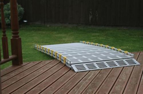 Roll-A-Ramp® 9' x 30'' Aluminum Ramp | A13008A19, portable ramp, wheelchair, roll, ramp, ramps, portable ramp, wheelchair, roll-a-ramp, roll a ramp, roll up ramp, modular ramp, wheelchairs, walkers, handicap,