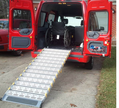 Roll-A-Ramp® 13' x 30'' Aluminum Ramp | A13012A19 ,  cheap ramp, low price ramp, discount ramps, best price ramp, wheel chair ramp, value ramp,  quality ramp, aluminum ramp, safety ramp, roll a ramp,  mobile ramp