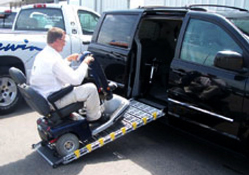 "Roll-A-Ramp | 8' x 36"" | Manual Bi-Fold | Van Ramp | MF-36, cheap ramp, low price ramp, discount ramps, best price ramp, wheelchair ramp, value ramp,"