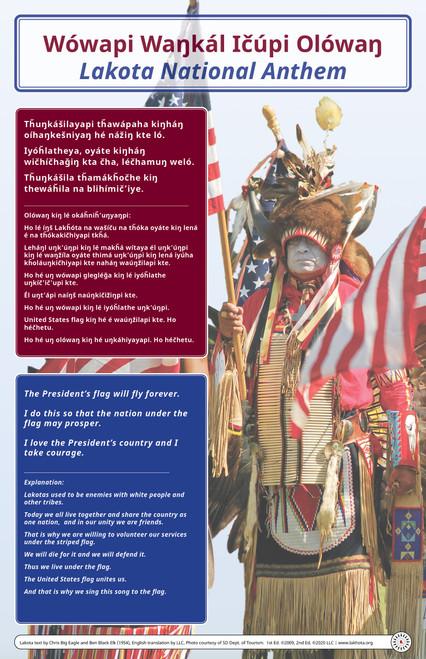 Lakota National Anthem Poster - Wówapi Waŋkál Ičúpi Olówaŋ