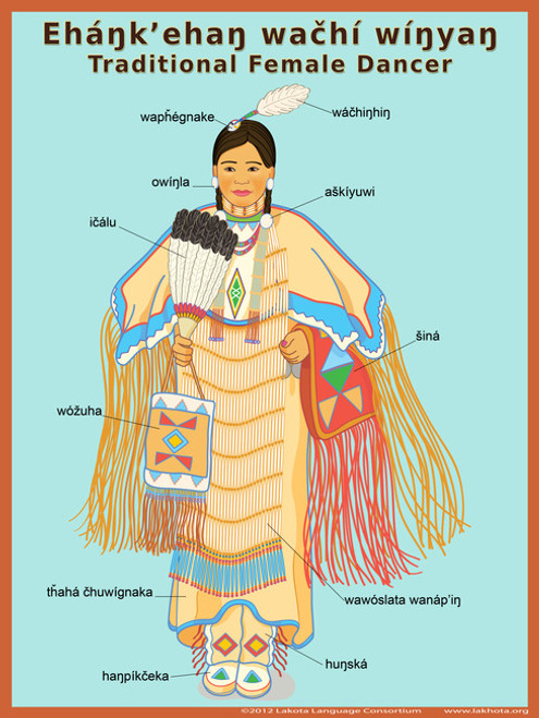 Traditional Female Dancer Poster