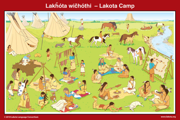 Lakota Camp Poster