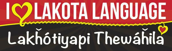 Lakȟótiyapi Thewáȟila - I love Lakota Language Bumper Sticker