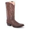 Handcrafted and durable, these genuine brown boots from King Exotic are made of grisly leather. It features a cowboy heel, snip toe profile, and a leather shaft