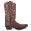 King Exotic  Brown Grisly Leather Boots