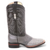 King Exotic Black & Gray Genuine Caiman Boots