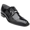 Belvedere Batta Black Genuine Ostrich Cap-toe Men's Lace-up Shoes