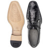 Belvedere Isola Black Genuine Ostrich Skin Men's Lace-up Shoes