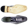 Belvedere Chapo Navy Genuine Crocodile Men's Oxfords